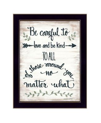 Be Careful by Annie LaPoint, Ready to hang Framed Print, White Frame, 18