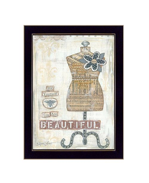 "Trendy Decor 4U Trendy Decor 4U Beautiful By Annie LaPoint, Printed Wall Art, Ready to hang, Black Frame, 20"" x 14"""