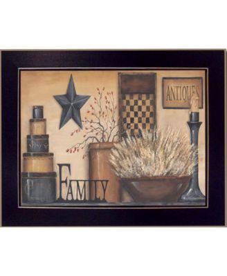 """Family By Carrie Knoff, Printed Wall Art, Ready to hang, Black Frame, 14"""" x 10"""""""