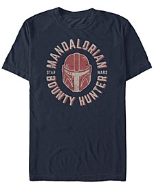 Men's Star Wars The Mandalorian Helmet Stamp Short Sleeve T-shirt