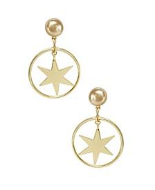 Dramatic Star Hoop Earrings