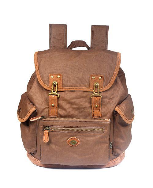 TSD BRAND Dolphin Canvas Backpack