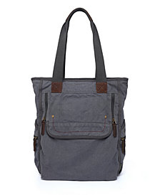 TSD BRAND Atona Canvas Tote Bag