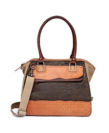 Tapa Canvas Satchel Bag
