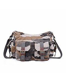 Camo Canvas Messenger Bag