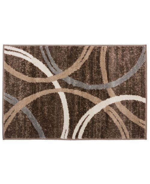 Main Street Rugs Home Alba Alb377 Brown Area Rug Collection