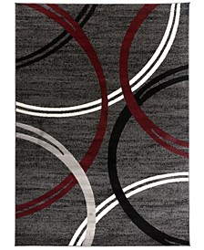 Home Alba Alb377 Red Area Rug Collection