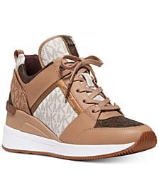 Georgie Trainer Wedge Sneakers