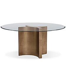 "Symmetry 60"" Glass Top Round Dining Table"