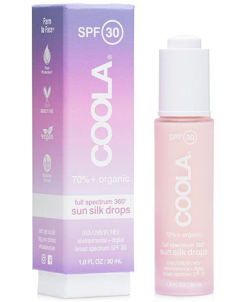 COOLA Full Spectrum 360° Sun Silk Drops Organic Sunscreen SPF 30