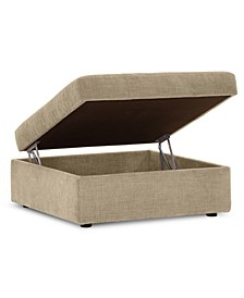 "Wedport 36"" Fabric Storage Ottoman, Created for Macy's"
