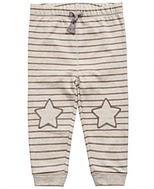 Baby Boys Striped Star-Patch Jogger Pants, Created For Macy's
