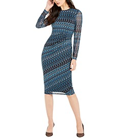 INC Side-Ruched Midi Dress, Created For Macy's