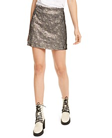 Skinny Sequin Mini Skirt