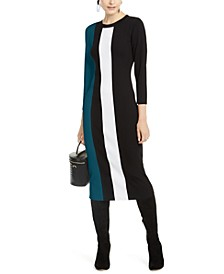 INC Petite Colorblocked Sweater Dress, Created for Macy's