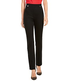 I.N.C. Curvy-Fit Straight-Leg Pants, Created for Macy's