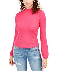 Juniors' Mock-Neck Top, Created For Macy's