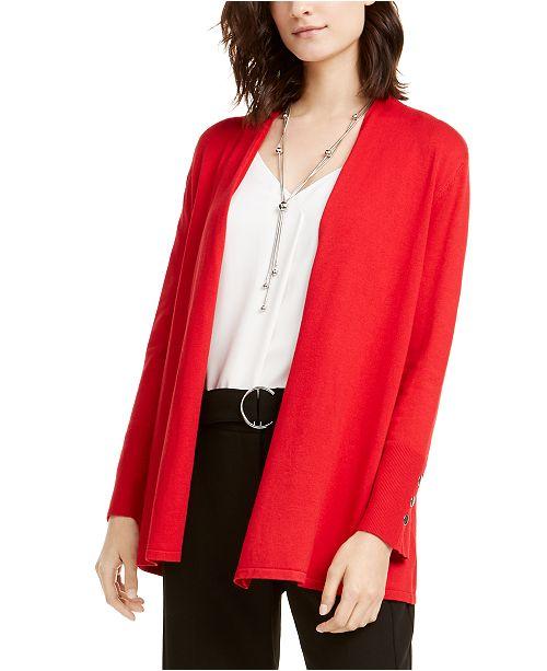 Alfani Snap-Sleeve Open Cardigan, Created For Macy's