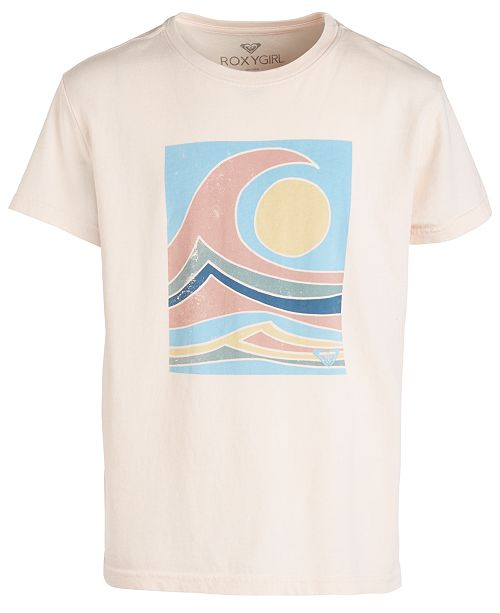 Roxy Big Girls Ocean-Print Cotton T-Shirt