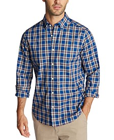 Men's Big & Tall Classic-Fit Navtech Classic Fit Performance Stretch Wrinkle-Resistant Plaid Shirt
