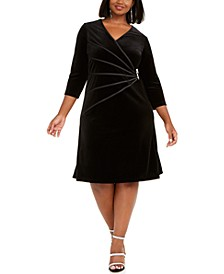 Plus Size Velvet A-line Dress
