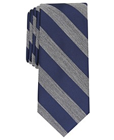 Men's Meadow Skinny Textured Stripe Tie, Created for Macy's