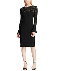 Lace-Jersey Dress