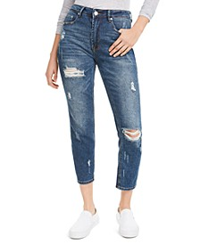 Juniors' Distressed Cropped Jeans