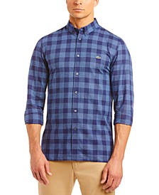 Men's Slim-Fit Check Woven Shirt