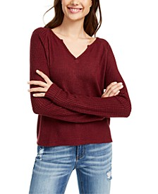 Juniors' Super Soft Ribbed Top