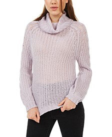 Juniors' Cowl-Neck Sweater