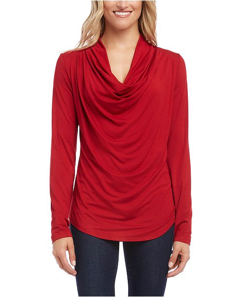 Karen Kane Draped Cowlneck Top