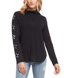 Star-Print Hoodie T-Shirt