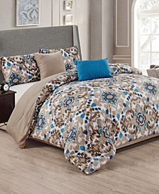 Lakewood 5-Piece Reversible Queen Comforter Set