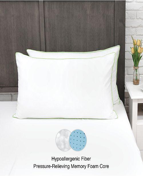 SensorPEDIC MemoryLOFT Deluxe Gusseted King Pillow with Memory Foam Center - 2 Pack