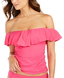 Island Goddess Ruffled Tankini Top
