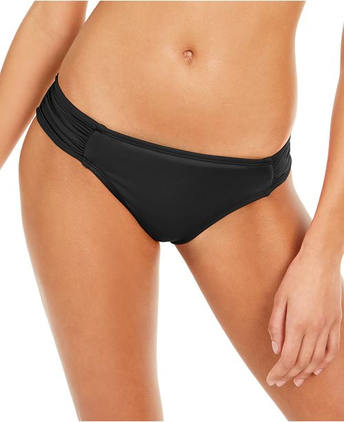 La Blanca Island Goddess Ruched-Side Hipster Bikini Bottoms