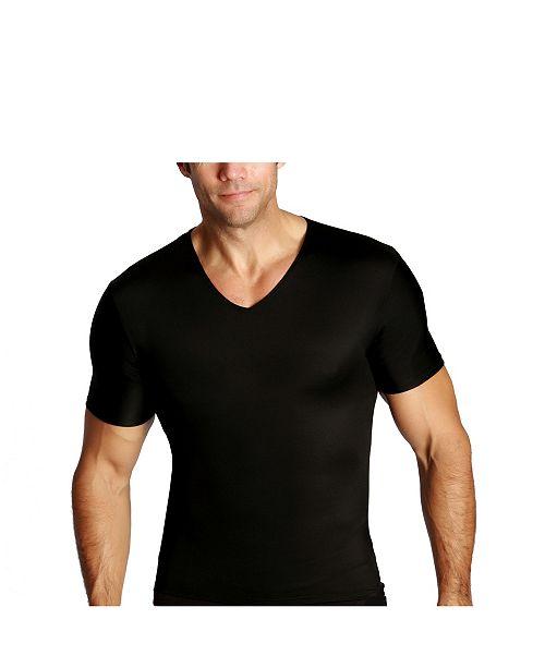 Instaslim Men's Big & Tall Insta Slim Compression Short Sleeve V-Neck T-Shirt
