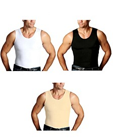 Men's Big & Tall Insta Slim 3 Pack Compression Muscle Tank T-Shirts