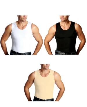 Men's Big & Tall Insta Slim 3 Pack Compression Muscle Tank T-Shirts