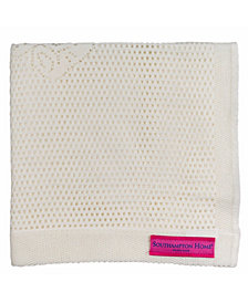 Southampton Home Lace Weave Teddy Bear Baby Blanket