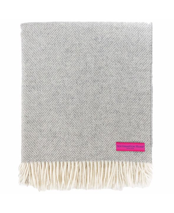 Southampton Home Merino Wool Herringbone Throw