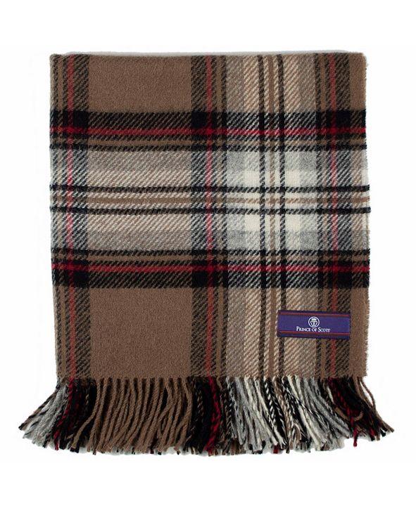 Prince of Scots Highland Tartan Tweed Lap/Shoulder Throw