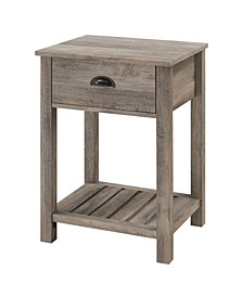 Country Single Drawer Side Table