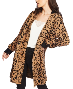 1.state Tops ANIMAL-PRINT CARDIGAN
