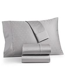Bergen House Woven Diamond Dot 4-Pc. California King Sheet Set, 1000-Thread Count 100% Certified Egyptian Cotton