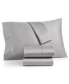 Bergen House Woven Diamond Dot 4-Pc. Full Sheet Set, 1000-Thread Count 100% Certified Egyptian Cotton
