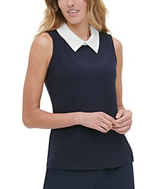 Layered-Look Sleeveless Top