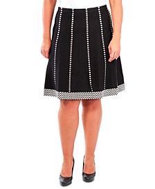 Plus Size Fit & Flare Pull-On Skirt