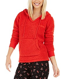 Women's Faux Sherpa Cozy Hoodie, Created For Macy's